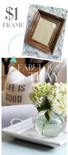How to make a white-washed reclaimed wood tray from an old tray and discarded…