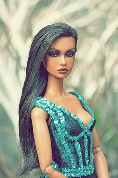 Glam Doll, Glamour Dolls, Fashion Royalty Dolls, Fashion Dolls, Really Long Hair, Poppy Parker, Vintage Barbie Dolls, Vintage Toys, Brown Girl