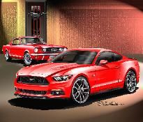 ITEM 16-MGP-10 1965- 2015  FORD MUSTANG GT BORN AGAIN  HERITAGE EDITION