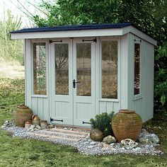 Garden Sheds John Lewis 12 x 8 waltons contemporary summerhouse with side shed | gardens