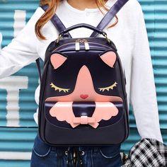 Cat Ear Canvas Backpack from SYNDROME Kawaii Harajuku Shop on Storenvy