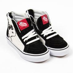 """f20035979fdb6c Vans """"Atwood"""" schwarze Monster-Sneakers mit Klettverschluss"""