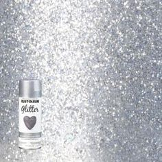 Personalize a unique and whimsical flair to different surfaces by applying this Rust-Oleum Specialty Silver Glitter Spray Paint. Glitter Paint Craft, Gold Glitter Spray Paint, Rust Oleum Glitter, Glitter Wall Art, Silver Glitter, Craft Paint, Glitter Walls, Glitter Home Decor, Silver Paint