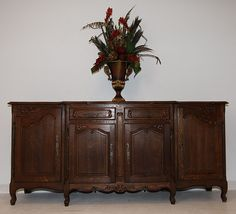 19th Century French Buffet Sideboard Antique Louis XV