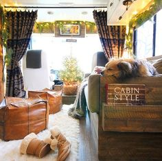 Renovated RV Christmas Tour Designs Best Tiny House, Hallmark Christmas Movies, Mom And Sister, Tiny House On Wheels, Twinkle Lights, Rustic Chic, Rustic Christmas, Tiny Houses, Rv