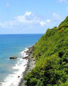 #puertorico #shore #blue #sea