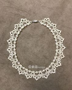 11 отметок «Нравится», 1 комментариев — @xinrui19 в Instagram: «原创项链本来想用三七孔珍珠做的,孔距太小放弃了,改用了空气珍珠,珍珠的位置镂空多一些,为了突出珍珠的美丽»
