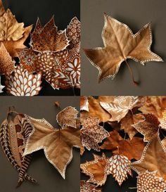 feuilles peint DIY
