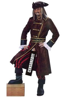 Pirate Captain John Long-Fellow Costume - Funny Costumes at Escapade™ UK - Escapade Fancy Dress on Twitter: @Escapade_UK