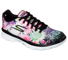 Elevate your workout style with the Skechers GOfit TR - Bay Rose shoe. Soft floral fabric and synthetic upper in a lace up cross training athletic sneaker with Skechers Goga Mat insole and flexible decoupled outsole. Keep Shoes, Me Too Shoes, Skechers D Lites, Floral Print Shoes, Black Lace Up Shoes, Skechers Performance, Training Shoes, Shoes Online, Shoes