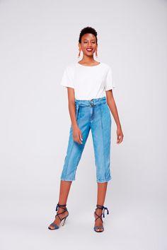 0c757941d Calça Jeans Capri Feminina - Damyller-smartphone