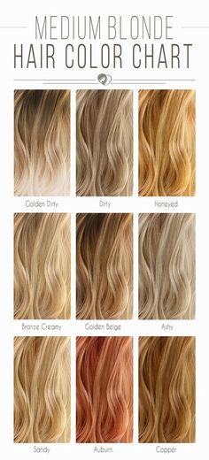 Medium Blonde Hair Color Chart ❤️ Blonde hair color chart is you. - - Medium Blonde Hair Color Chart ❤️ Blonde hair color chart is your key to the perfect blonde look! Medium Blonde Hair Color, Blonde Hair Shades, Golden Blonde Hair, Hair Color Shades, Hair Color Balayage, Cool Hair Color, Blonde Honey, Auburn Balayage, Blonde Ombre