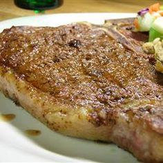 Rock's T-Bone Steaks - Rocky's blend of seasonings including paprika, coriander, and turmeric makes any steak awesome! Dry Rub Recipes, Steak Recipes, Grilling Recipes, Cooking Recipes, T Bone Steak, Beef Steak, Good Food, Yummy Food, Juicy Steak