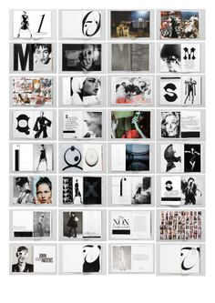 Fabien Baron page layouts #graphicdesign #fashion