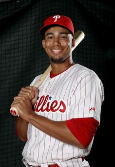 Aaron Altherr #23 of the Philadelphia Phillies poses for a portrait during the Philadelphia Phillies photo day on February 20, 2017 at Spectrum Field in Clearwater, Florida.