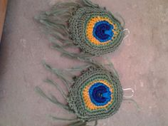 My (current) favorite ear rings.  Crocheted with a small hook and embroidery floss.