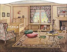 """George Blake illustrated...what precisely one should aim for in the child's room """"for the better sort of house."""""""