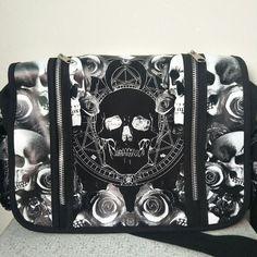 Want skull tops, hoodies, leggings and more Unisex Mica Skull... add to any wardrobe http://rebelstreetclothing.com/products/unisex-mica-skulls-roses-black-white-illuminati-gothic-waterproof-shoulder-cross-messenger-bag?utm_campaign=social_autopilot&utm_source=pin&utm_medium=pin