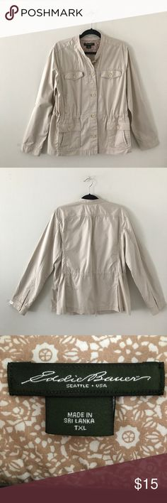 Eddie Bauer tan utility jacket - XL Tall Eddie Bauer tan utility jacket - XL Tall Eddie Bauer Jackets & Coats Utility Jackets