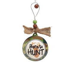 Born to Hunt Camouflage Christmas Ornament Gift Tree Deer Hunters Camo