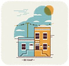 Muti created these Cape Town illustrations which highlight some of the cities iconic places such as the Table Mountain, the St. Martini Curch or the Bo Kaap Heart Illustration, Digital Illustration, Graphic Illustration, South African Design, City Icon, Map Vector, Wish You Are Here, Branding, Graphic Design Tutorials