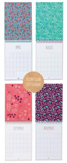 Fellow Fellow 2013 Calendars in store now! | Fellow Fellow