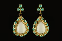 Turquoise and White. Really digging Turkish style jewelry these days.
