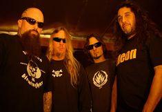 Kerry King, Jeff Hanneman, Dave Lombardo, and Tom Araya Slayer.