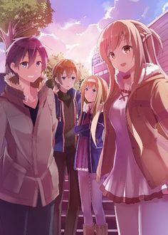 Kirito, Eugeo, Alice and Asuna