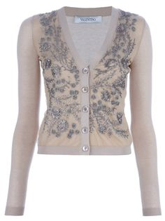 Valentino Beaded Cardigan I would be in heaven! The Cardigans, Estilo Lolita, Cashmere Cardigan, Refashion, Pretty Outfits, Valentino, Vintage Fashion, My Style, Sweaters