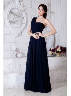 Dark Blue Chiffon Maternity Ball Gowns with One Shoulder Maternity Prom Dresses, Bridesmaid Dresses, Plus Size Maxi Dresses, Cheap Dresses, Silhouette, Cheap Wedding Dress, Wedding Dresses, Chiffon, Blue Evening Dresses