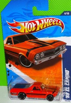 2011 Hot Wheels '68 El Camino Orange #104/244 by Mattel. $13.60. Muscle Mania '11 Series, #4/10. 1:64. Hot Wheels '68 El Camino Muscle Mania '11 4/10 1:64 Die-Cast Truck 104/244.copyright 2010 Mattel