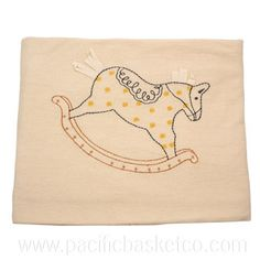 Organic Cotton Baby Blanket by Empress Arts - Vancouver Cotton Blankets, Vancouver, Organic Cotton, Horse, Snoopy, Retail, Baby, Infants, Baby Humor