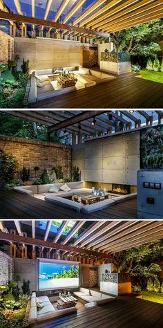 Cement walls.. glass timber ceiling