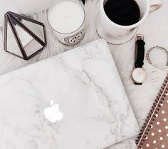 Marble macbook skin