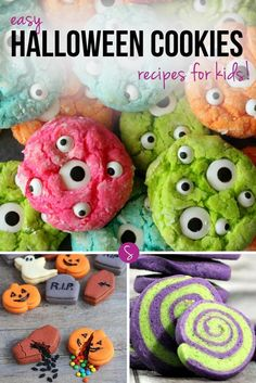 Easy Halloween Cookie Recipes for Kids: Super simple but oh so spooky! These cookies are perfect for parties or just for sharing at home!