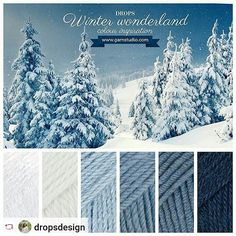 "DROPS Cotton Viscose 01, DROPS Lima 1101, DROPS Alpaca 6205, DROPS Karisma 30, DROPS Big Merino 07 and DROPS Alpaca 4305.  #DROPSDesign #inspiration #winterwonderland #yarnlove """