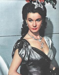 Vivien Leigh~~That Hamilton Woman - wearing Joseff Hollywood jewelry and costumes by Rene Hubert.