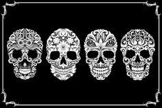 Bundle Skull Ornamental by alit_design on Creative Market