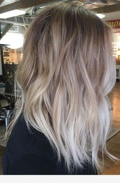 New Ideas Hair Color Balayage Ash Cool Blonde Ombre Hair Color, Hair Color Balayage, Ashy Balayage, Cool Blonde Balayage, Ombre Silver Hair, Dark Silver Hair, Hair Colour, Black Hair, Hair Inspo