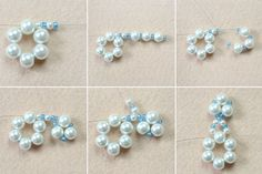 Picture of Make the petals for the beaded snowflake ornament