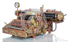 Máquina de escrever de Steampunk.