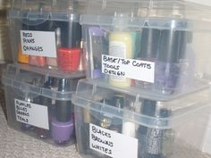 organized nail polishes Household Organization, Organizing, Nail Polishes, Nails, Finger Painting, Mani Pedi, Ocd, Red And Pink, Diy Projects