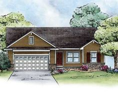 Cozy Ranch Home Plan - 42284DB | 1st Floor Master Suite, CAD Available, PDF, Ranch, Split Bedrooms | Architectural Designs