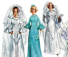 1970s Vintage pattern Wedding or by allthepreciousthings on Etsy, $16.00
