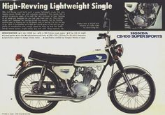 Honda CB-100 - poster/ad for one just like mine.