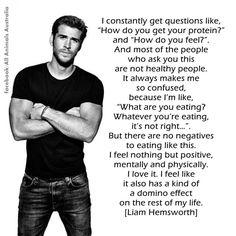 Vegan, Liam Hemsworth