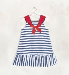 Toddler Girl Outfits, Little Girl Dresses, Kids Outfits, Nautical Dress, Nautical Fashion, Little Girl Fashion, Kids Fashion, Kids Dress Collection, Moda Kids