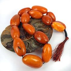 Rare Collection of Antique Amber Beads