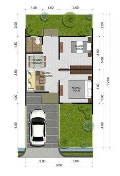 Denah Rumah Minimalis Type 21 60 Desain Rumah Minimalis Type 21